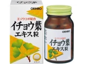 Orihiro Гинкго билоба+элеутерококк (240 капсул на 24 дня)